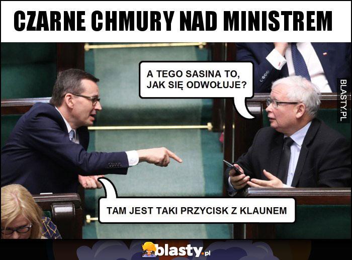 Czarne chmury nad ministrem