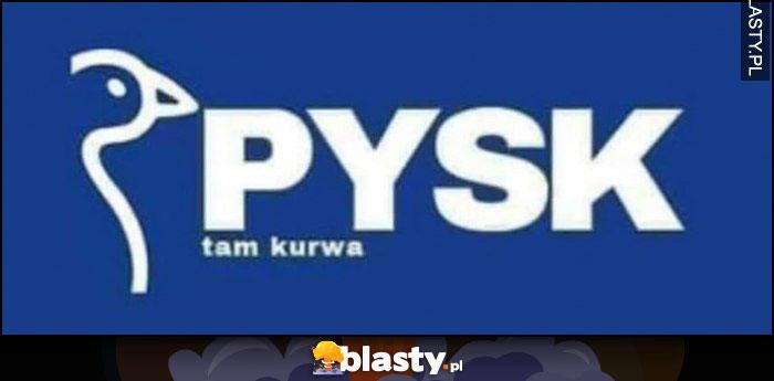 Jysk logo przeróbka Pysk tam kurna