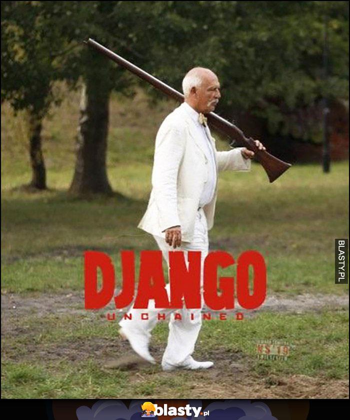 Korwin w miałym garniturze Django unchained przeróbka