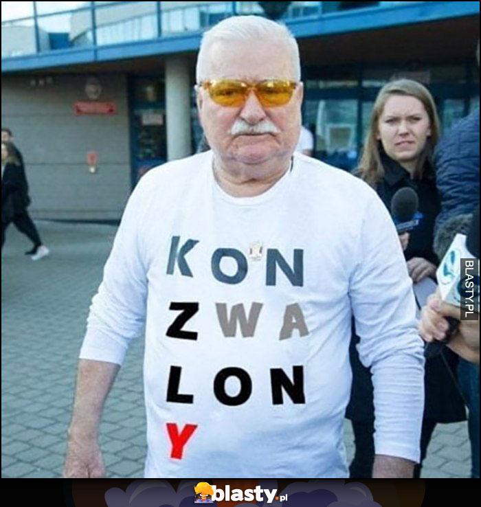 Lech Wałęsa koszulka konstytucja przerobiona na Koń Zwalony