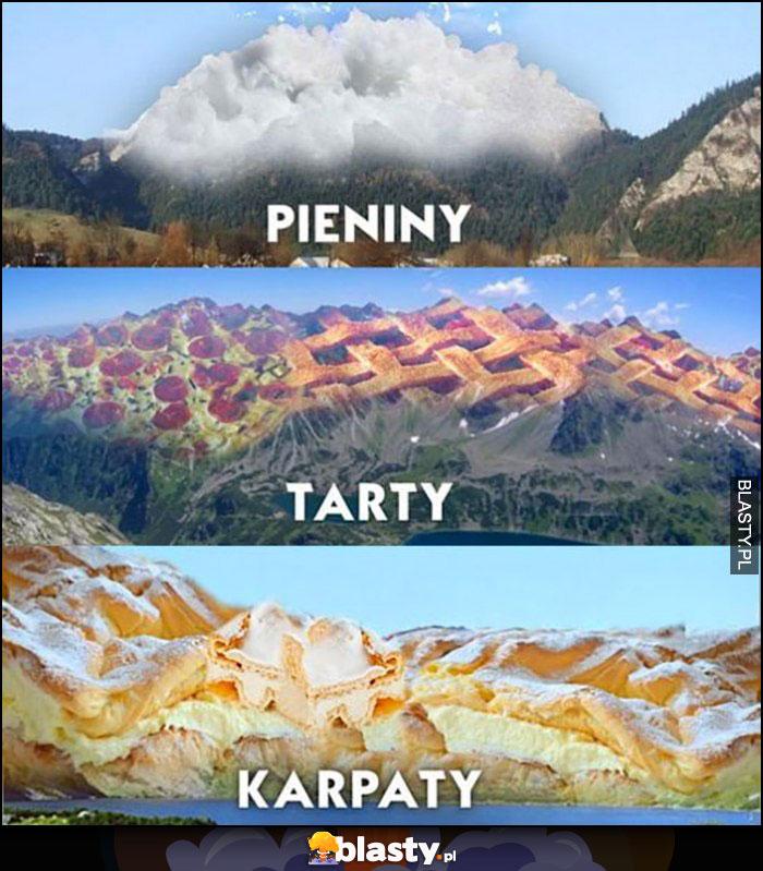 Pieniny, Tarty, Karpaty góry dosłownie