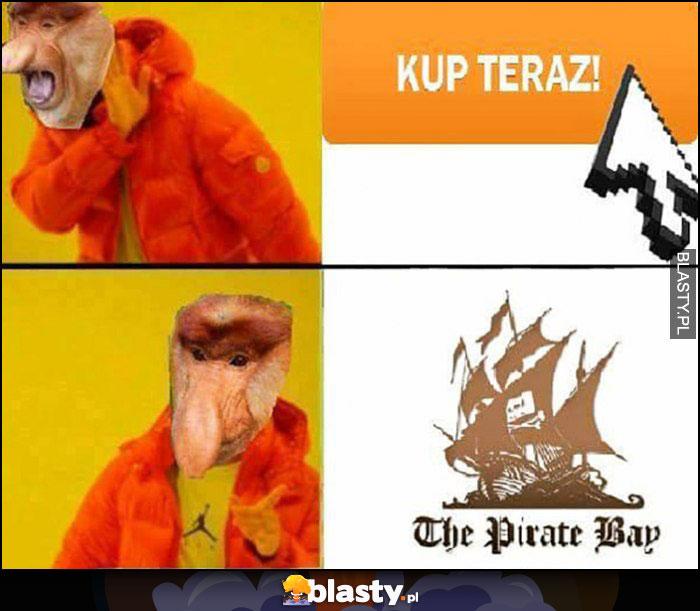 Przycisk kup teraz nie chce, woli ściągnąć na torrentach Pirate Bay