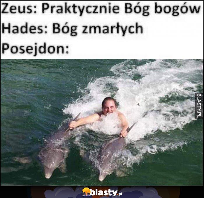Zeus: Bóg bogów, Hades: Bóg zmarłych, Posejdon: Robert Makłowicz pływa z delfinami