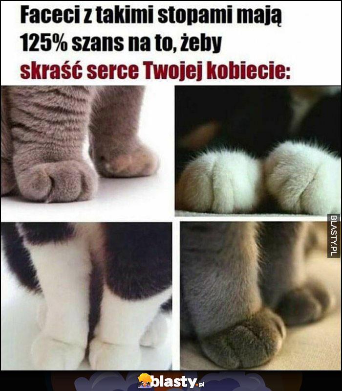 Faceci z takimi stopami mają 125% szans na to, żeby skraść serce Twojej kobiecie kot koty