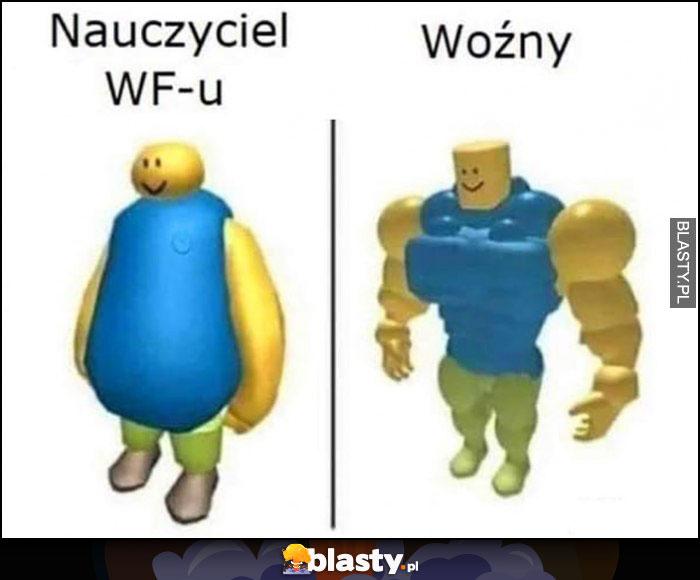 Nauczyciel WFu vs woźny wygląd porównanie
