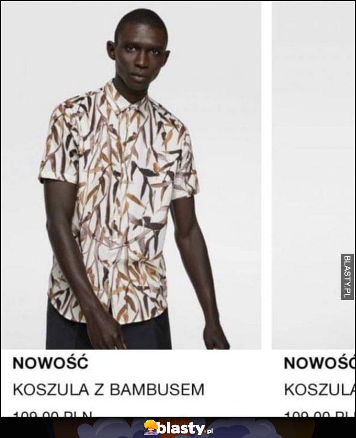 Nowość koszula z bambusem murzyn czarny Zara