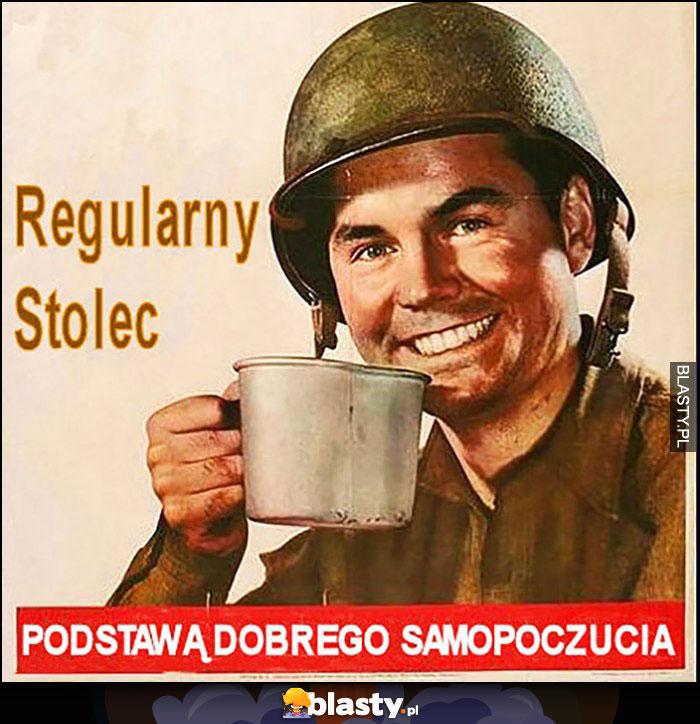Regularny stolec podstawą dobrego samopoczucia żołnierz