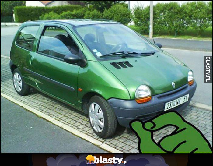 Renault Twingo jak zielona żaba Pepe