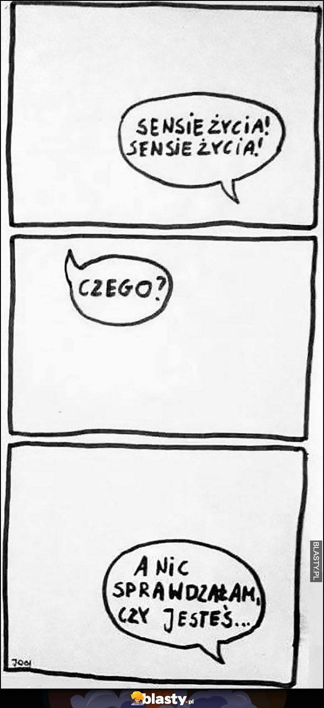 Sensie życia, czego, a nic sprawdzalem czy jesteś komiks