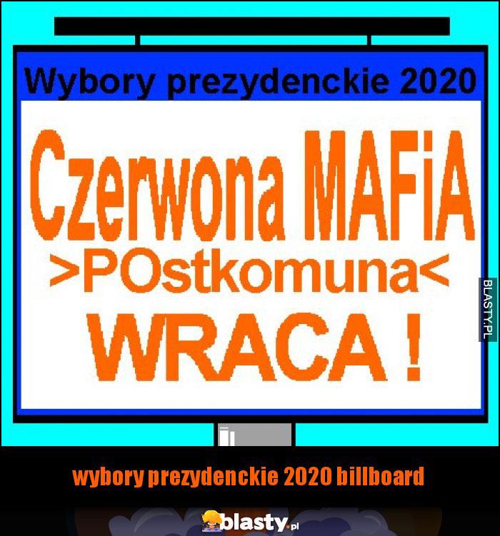 wybory prezydenckie 2020 billboard