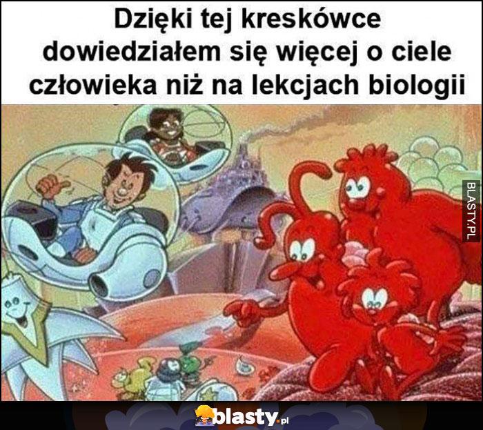 Dzięki tej kreskówce dowiedziałem się więcej o ciele człowieka niż na lekcjach biologii