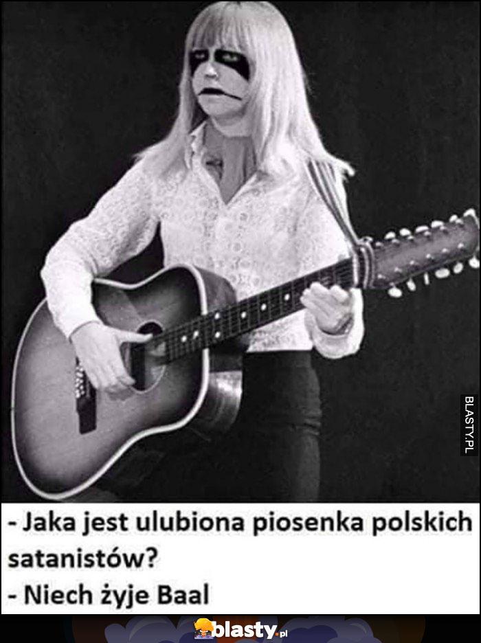 Jaka jest ulubiona piosenka polskich satanistów? Niech żyje Baal Maryla Rodowicz