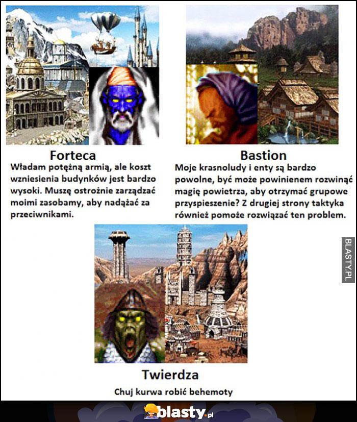 Zamki heroes 3: forteca, bastion, twierdza: kij tam, robić behemoty