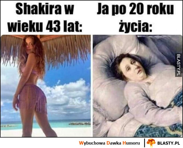 Shakira w wieku 43 lat vs ja po 20 roku życia porównianie