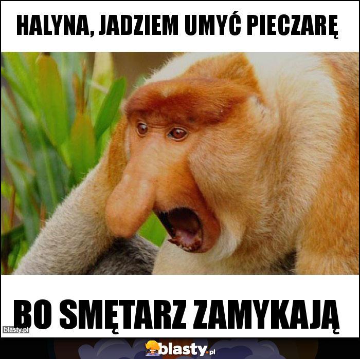 Halyna, jadziem umyć pieczarę