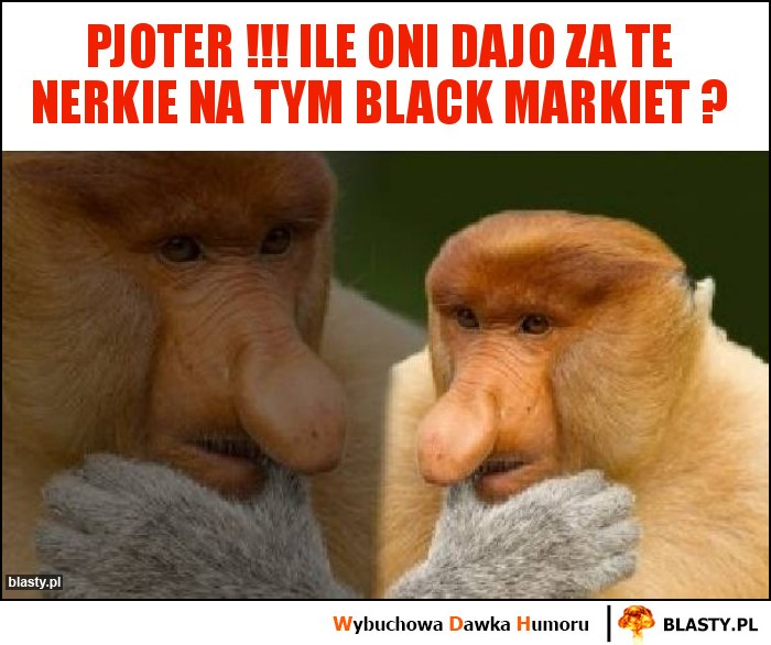 Pjoter !!! ile oni dajo za te nerkie na tym black markiet ?
