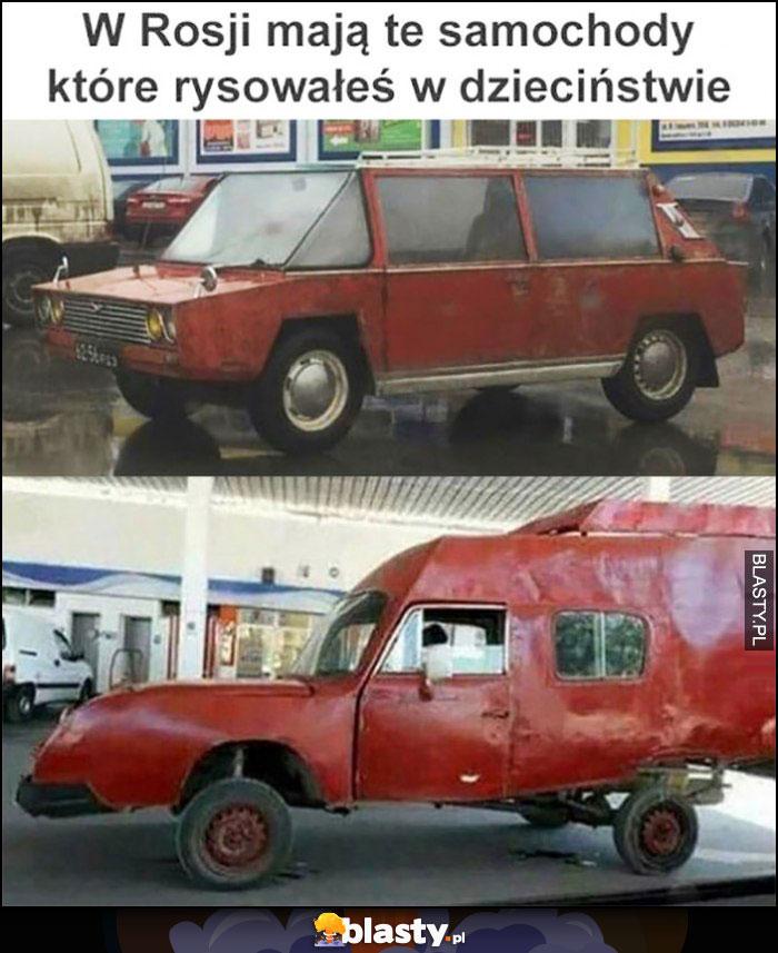 W Rosji mają te samochody, które rysowałeś w dzieciństwie