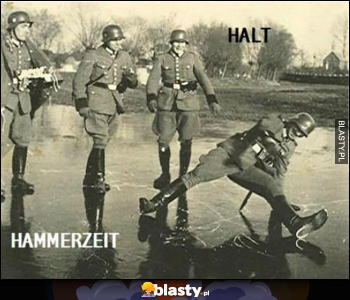 Halt Hammerzeit niemiecki żołnierz breakdance