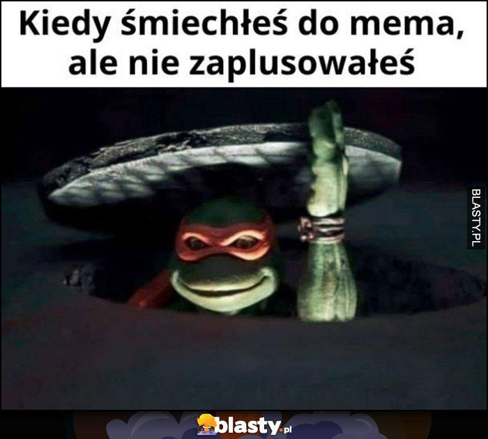 Kiedy śmiechłeś do mema ale nie zaplusowałeś Żółwie Ninja