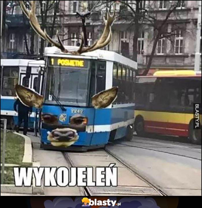 Wykojeleń wykolejenie tramwaju