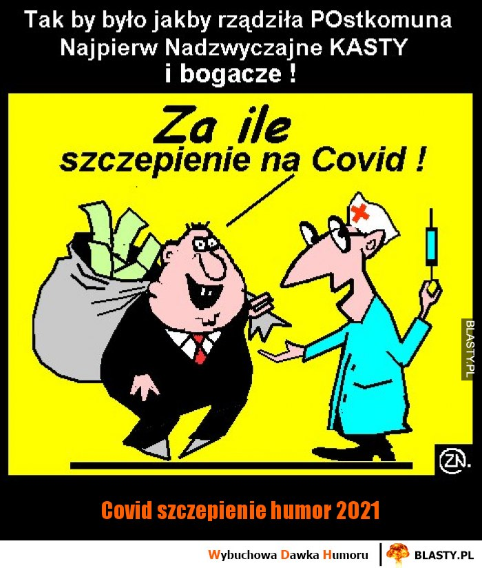 Covid szczepienie humor 2021