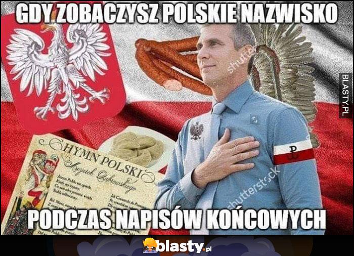Gdy zobaczysz polskie nazwisko podczas napisów końcowych Polak