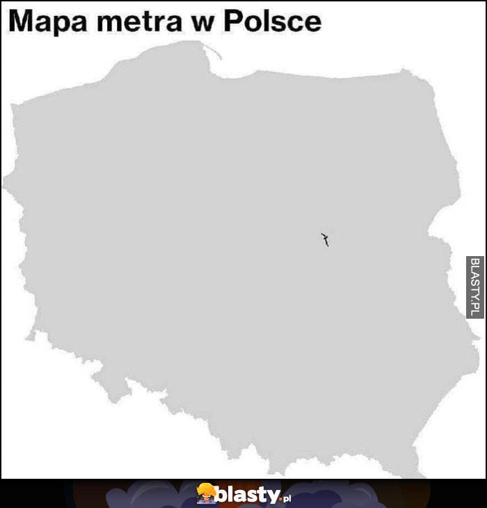 Mapa metra w Polsce tylko w Warszawie