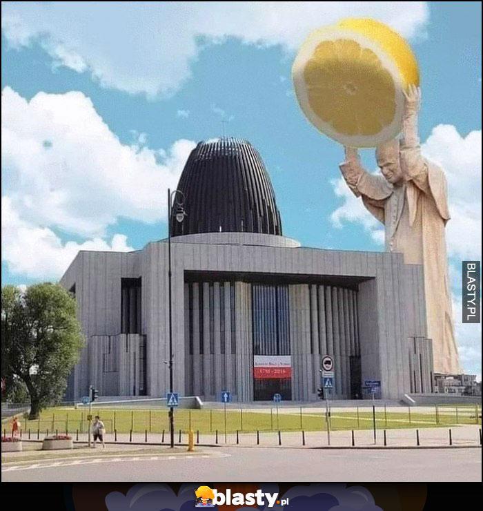 Papież cytryna Świątynia Opatrzności wyciskarka do cytryn