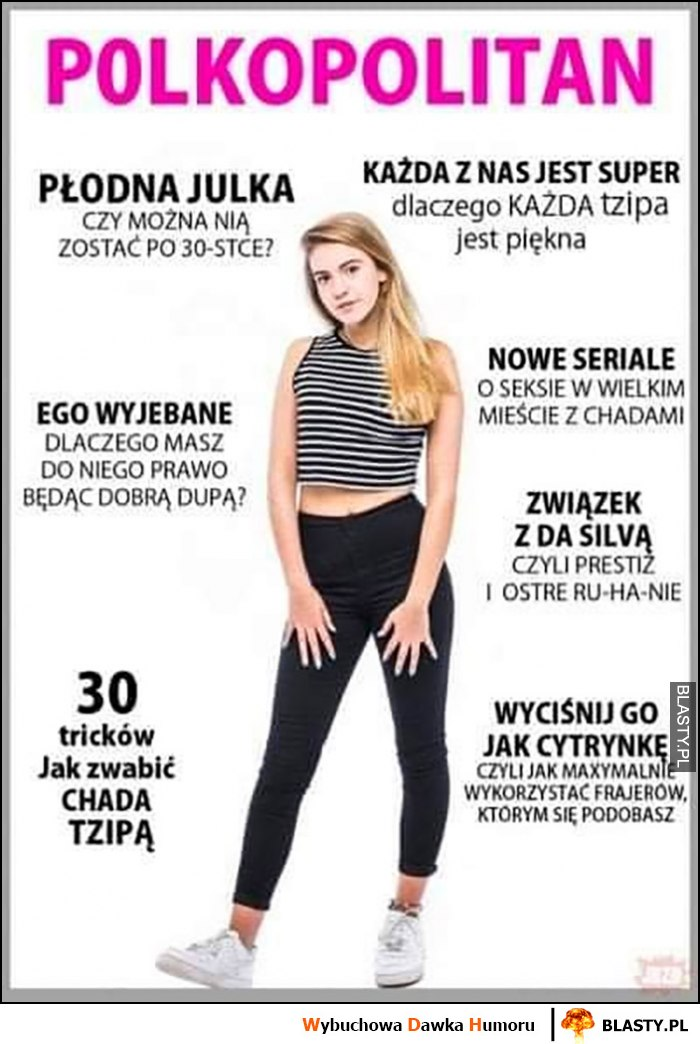 Polkopolitan przeróbka okładki Cosmopolitan Polka