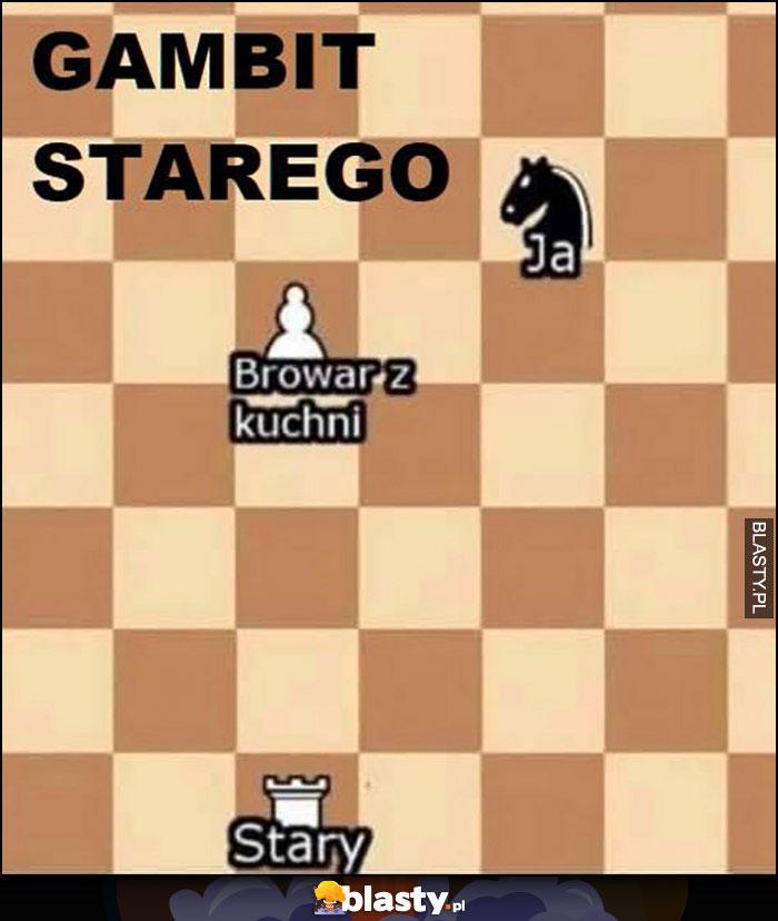 Gambit starego ja, stary, browar z kuchni szachy
