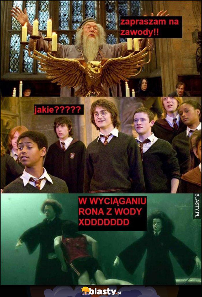 Harry Potter zapraszam na zawody, jakie, w wyciąganiu Rona z wody