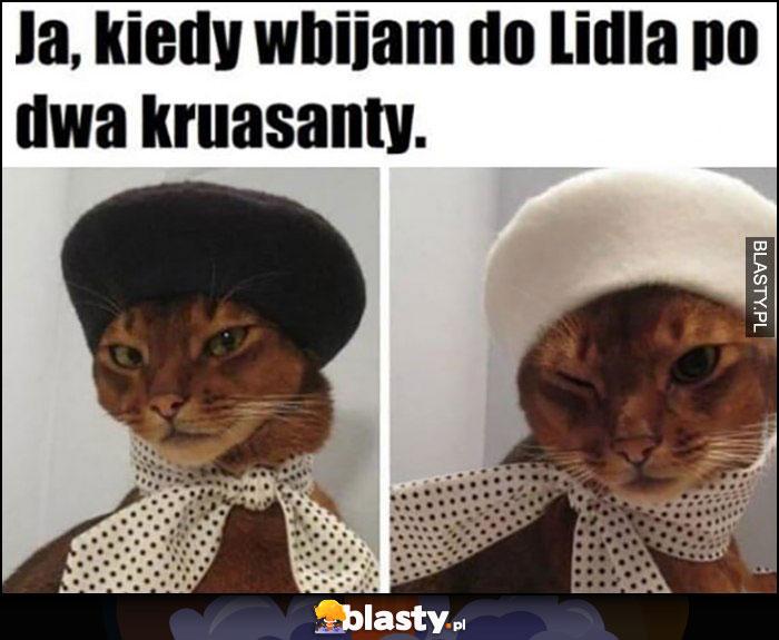 Ja kiedy wbijam do Lidla po dwa kruasanty kot koty