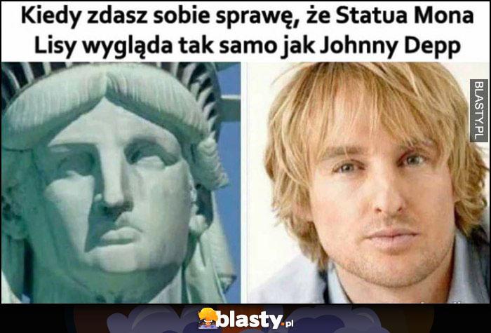 Kiedy zdasz sobie sprawę, że statua Mona Lisy wygląda tak samo jak Johnny Depp