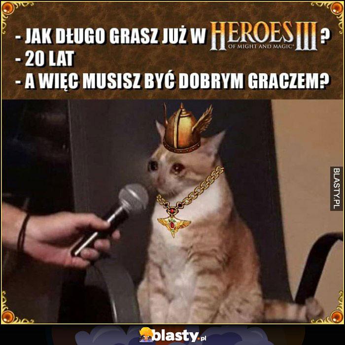 Kot jak długo grasz już w Heroes 3? 20 lat, a więc musisz być dobrym graczem? Smutny płacze