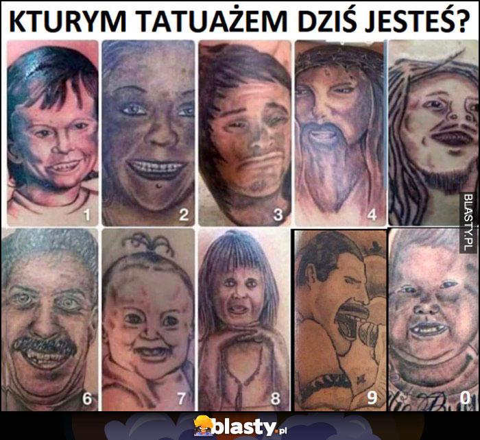 Którym tatuażem dziś jesteś numery od 0 do 9 nieudane tatuaże dziary
