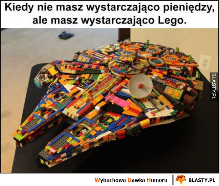 Kiedy nie masz wystarczająco pieniędzy, ale masz wystarczająco LEGO Sokół Millenium Star Wars Gwiezdne Wojny