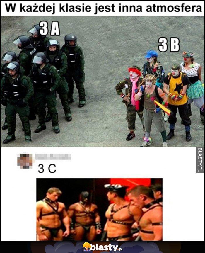 W każdej klasie jest inna atmosfera policja hipisi 3A, 3B, 3C porównanie