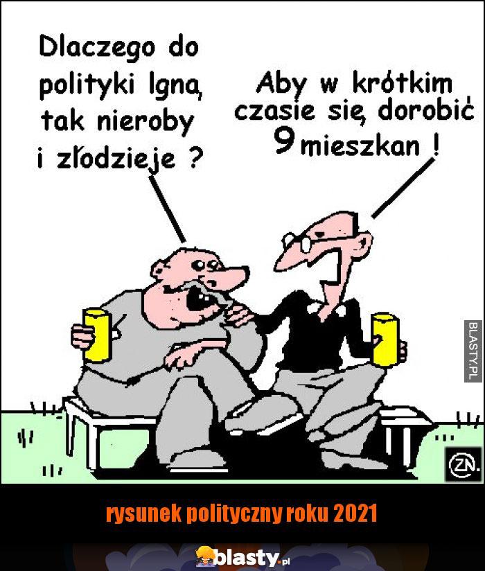 rysunek polityczny roku 2021