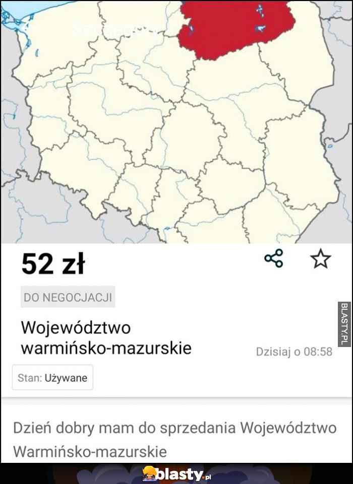 Sprzedam województwo warmińsko-mazurskie ogłoszenie olx cena 52 zł