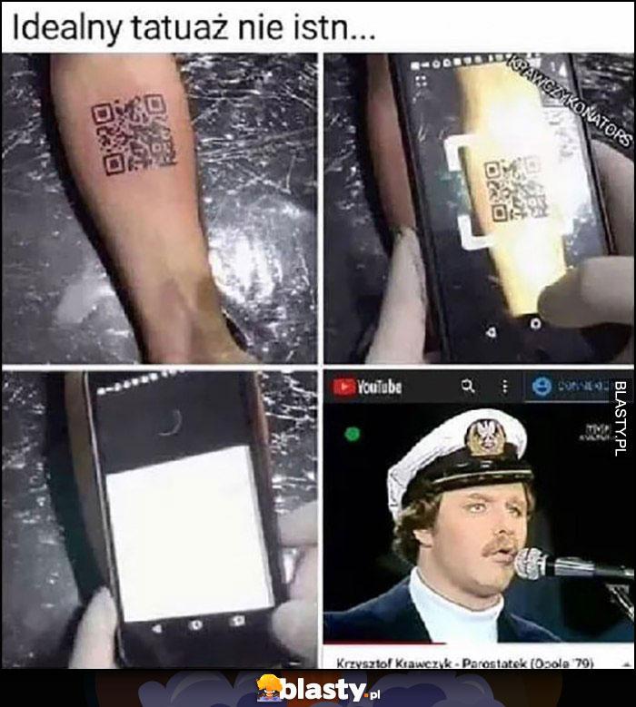 Idealny tatuaż nie istnieje kod QR teledysk Krzysztofa Krawczyka