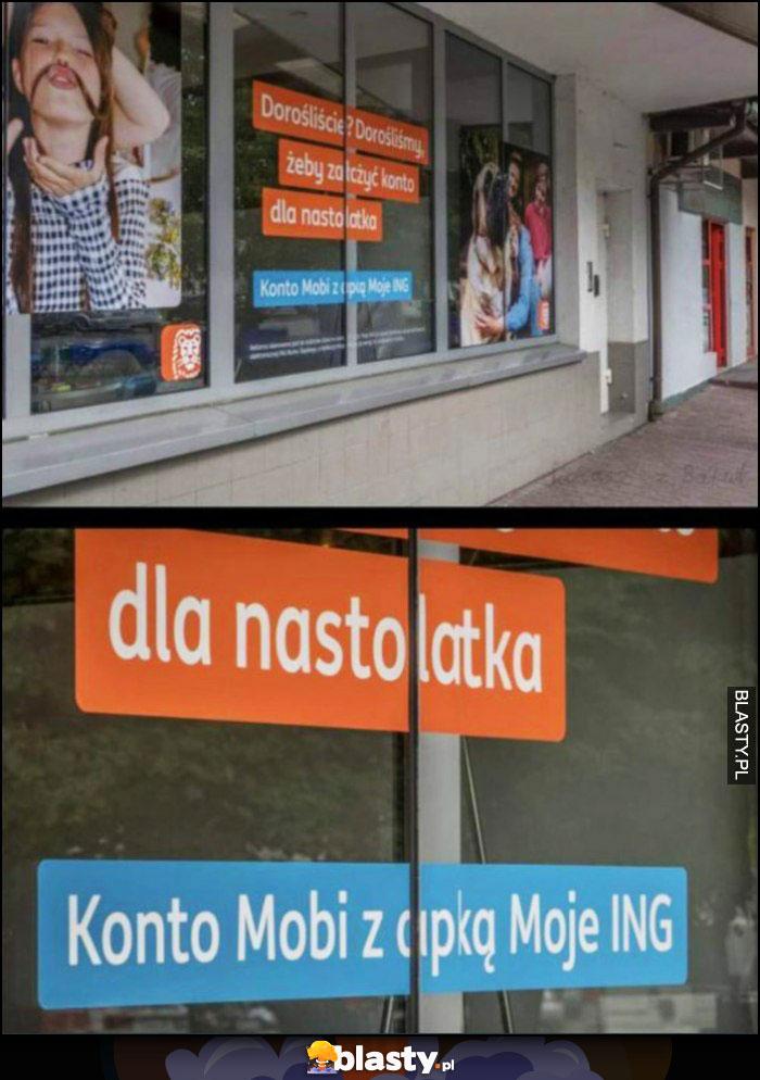 ING reklama fail Konto Mobi z cipką Moje ING