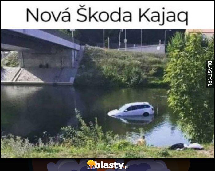 Nowa Skoda Kajaq wpadła do rzeki