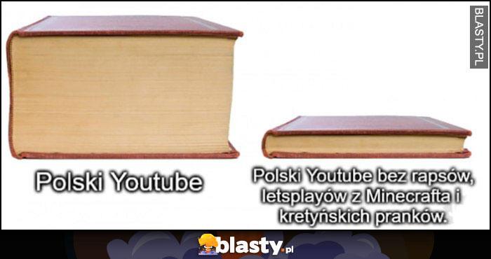 Polski Youtube z i bez rapsów, letsplayów, minecrafta i kretyńskich pranków książka porównanie