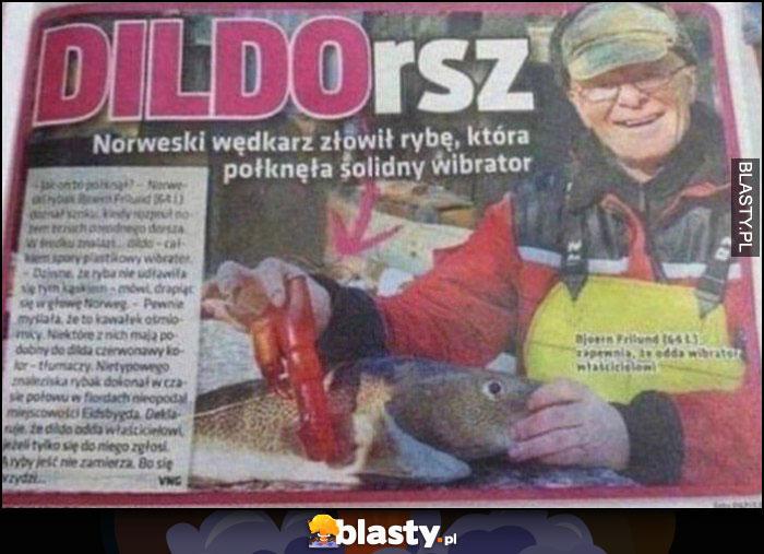 Dildorsz norweski wędkarz złowił rybę która połknęła solidny wibrator artykuł w gazecie