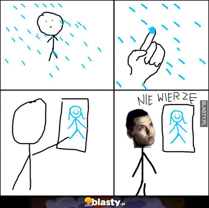 Kroplą deszczu namaluję cię, nie wierzę Gabriel Fleszar komiks