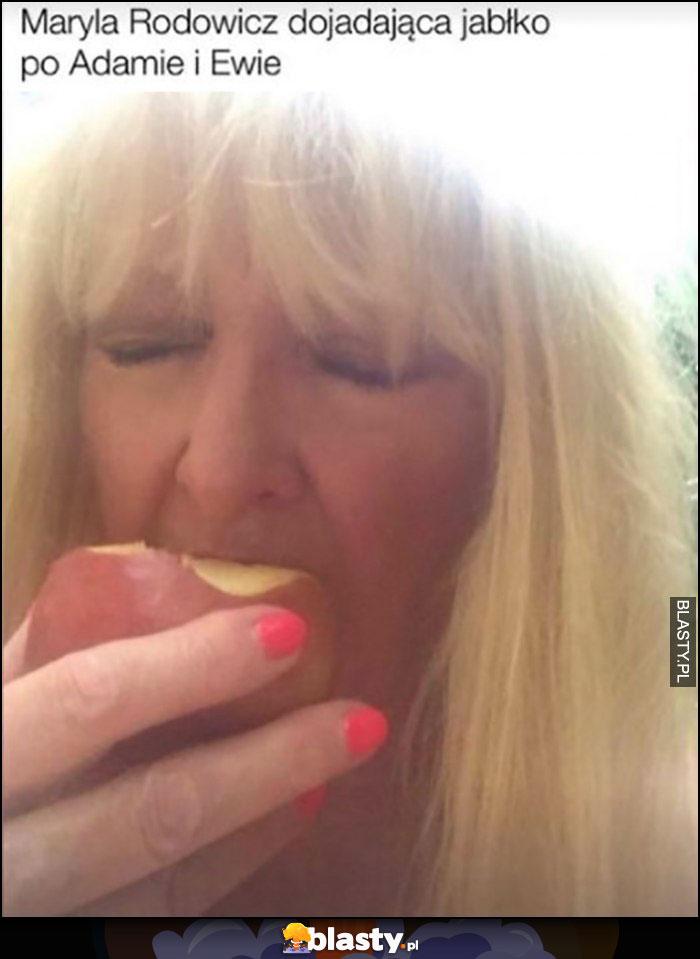 Maryla Rodowicz dojadająca jabłko po Adamie i Ewie